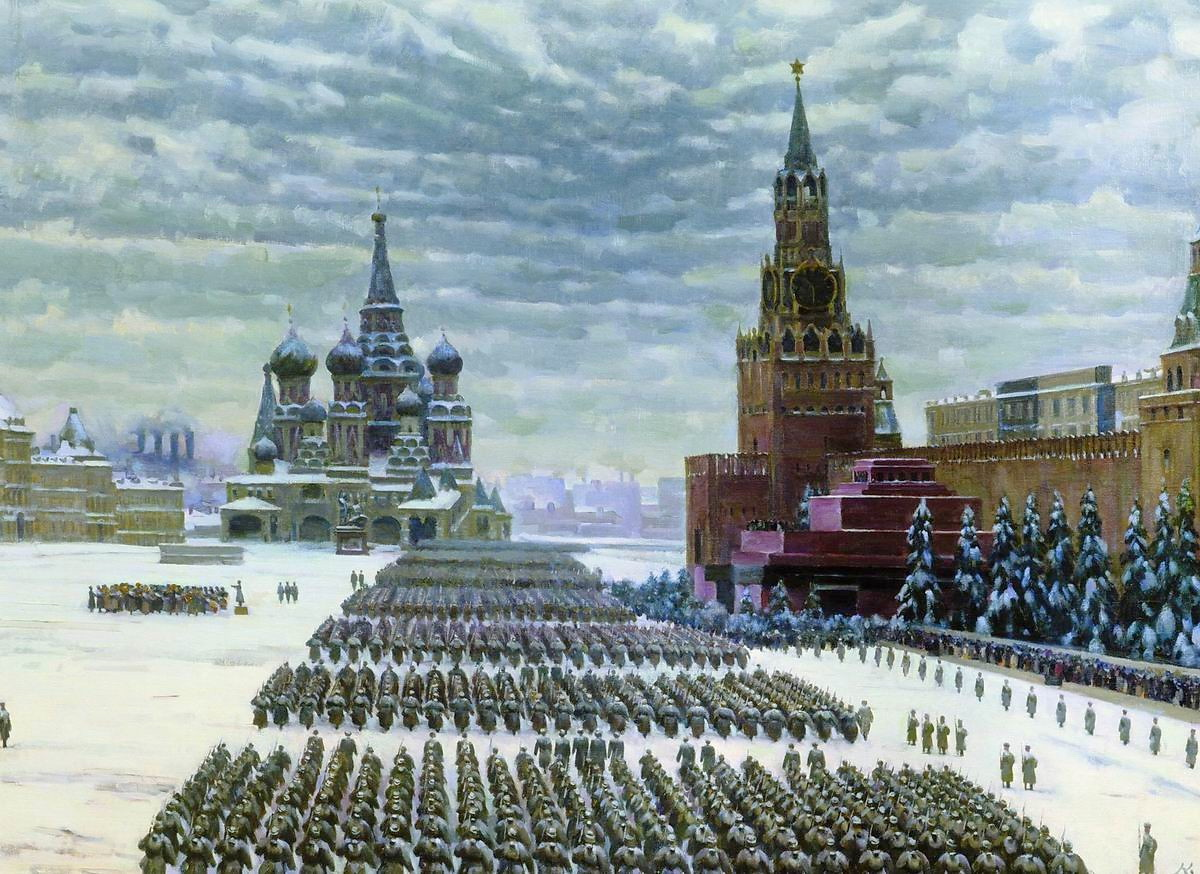 December 7, 1941, parade on Red Square.  Image Konstantin Juon.