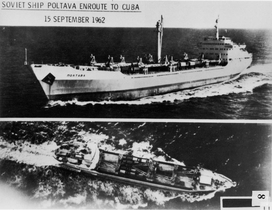 15 września 1962 roku. Radziecki statek Połtawa w drodze na Kubę. National Security Archive